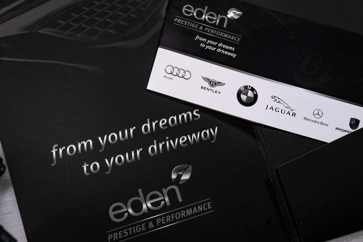Eden Prestige and Performance Corporate Stationery Literature Graphic Design
