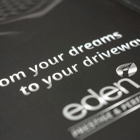 Logo and tagline that I esigned and illustrated for Eden Prestige and Performance cars