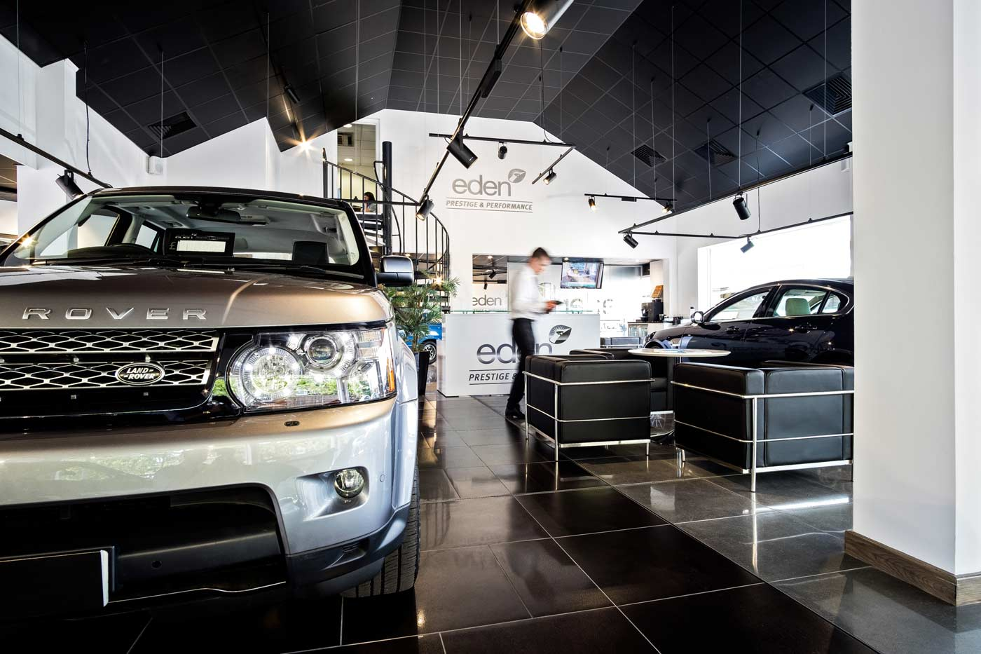 Interior photograph of Eden Prestige & Performance cars showroom