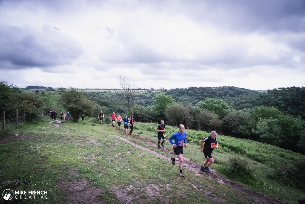Runners from the Relish Running Races in cheddar tackle the tough hilly course