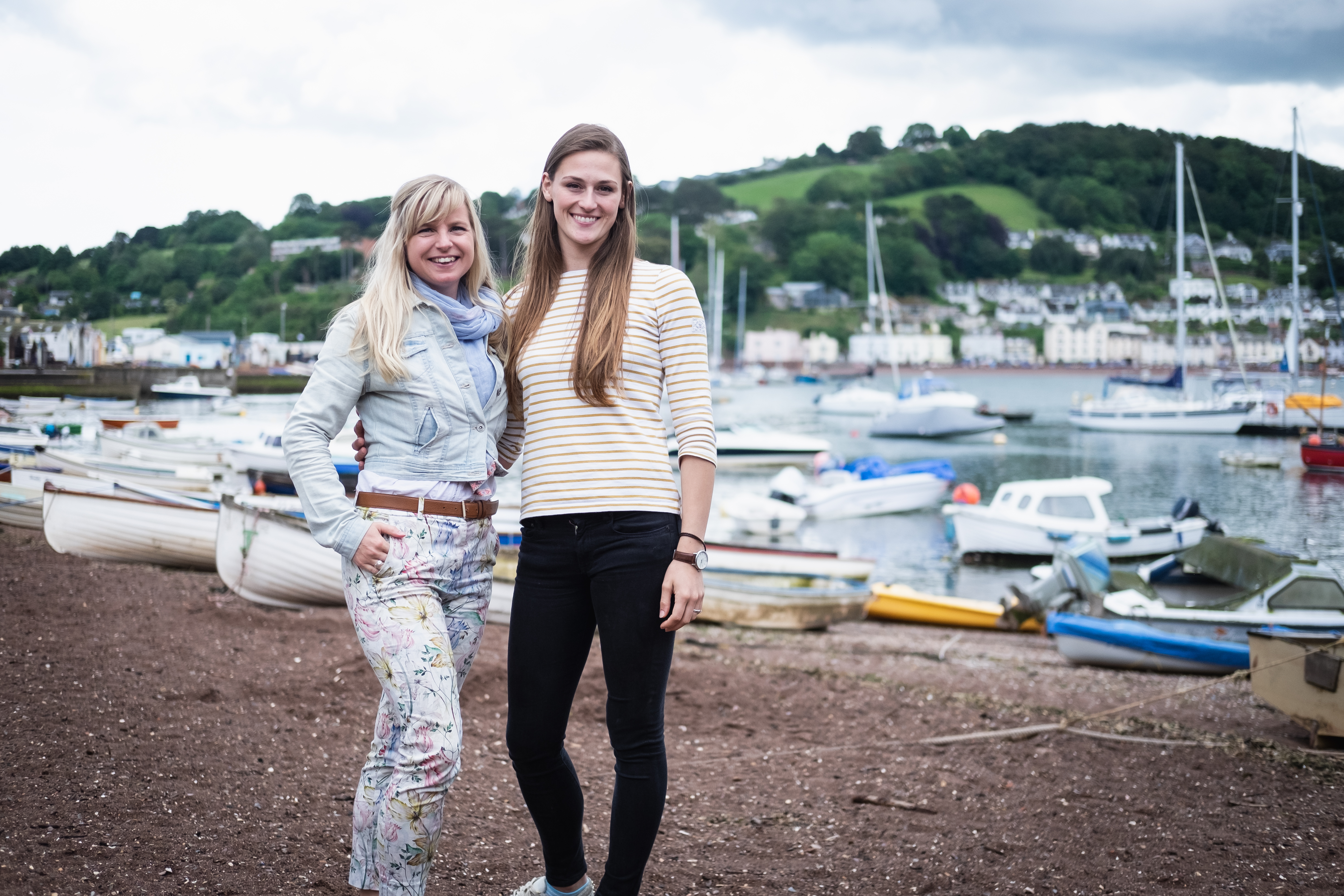 Laura Bingham and Laura Wall in Teignmouth during a portrait photography session