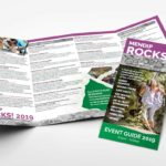 The 2019 Mendip Rocks Event Guide designed by Mike French Creative