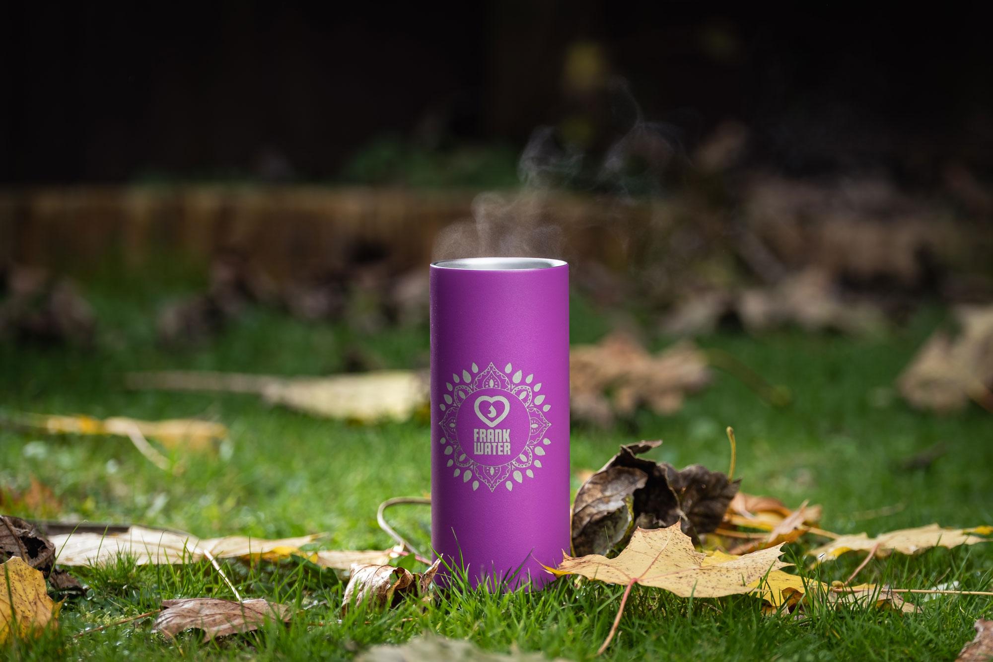 Frank Water Klean Kanteen Purple Coffee Cup keeping warm