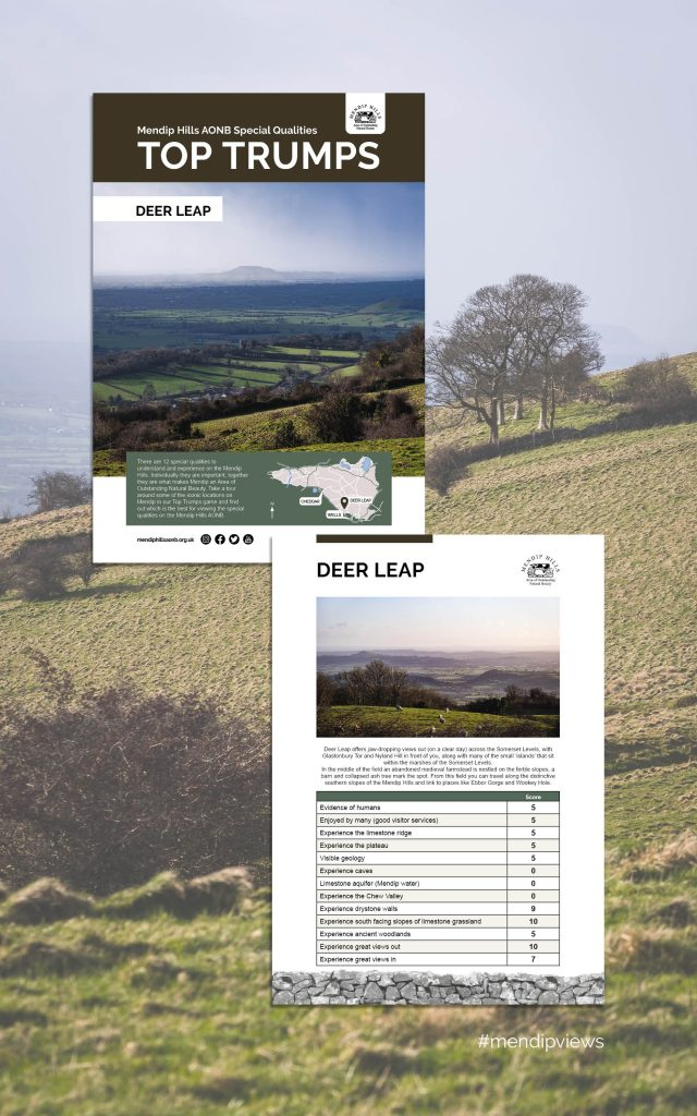 Documentary Photography of Deerleap on some Mendip Hills Top Trumps Cards