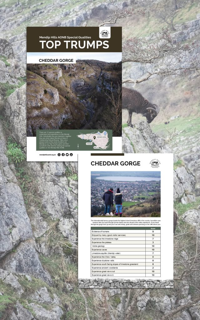 Documentary Photography of Cheddar Gorge on some Mendip Hills Top Trumps Cards