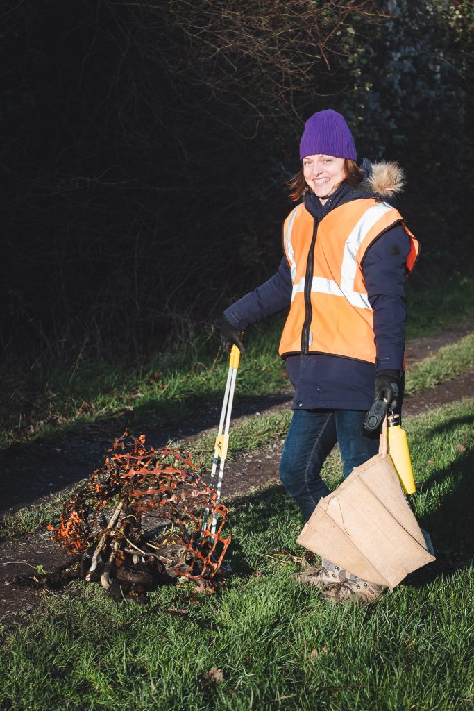 A Turn the Tide Litter Picking Volunteer in Portishead
