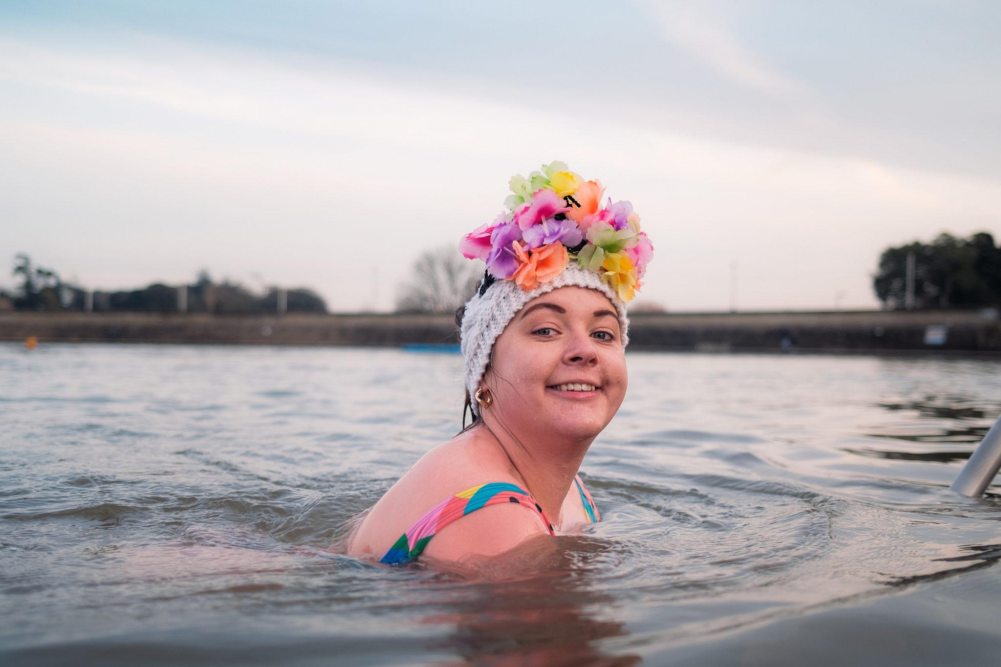 Formal Friday Swim in Clevedon Marine Lake