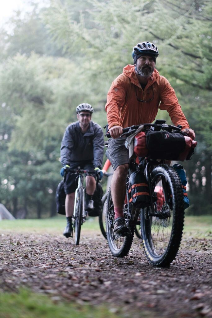 Darroch and Mark from Bath Outdoors on a School Night Bivi